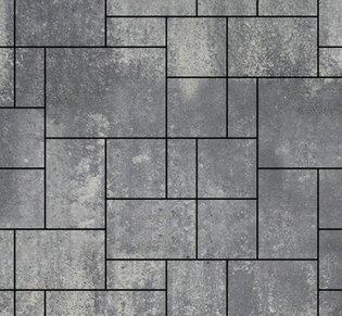 Тротуарная плитка Инсбрук Альпен, 60 мм, ColorMix Актау, гладкая: фото