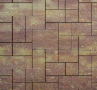 Тротуарная плитка Инсбрук Альпен, Эконом, 60 мм, ColorMix Порто, гладкая: фото