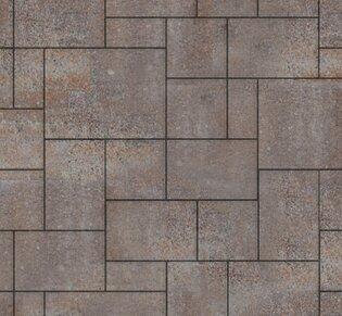 Тротуарная плитка Инсбрук Альпен, 40 мм, ColorMix Берилл, гладкая: фото