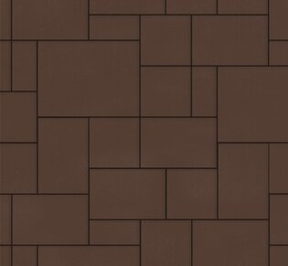 Тротуарная плитка Инсбрук Альпен, 60 мм, коричневый, гладкая: фото