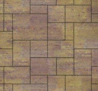 Тротуарная плитка Инсбрук Альпен, 60 мм, ColorMix Тахель, гладкая: фото