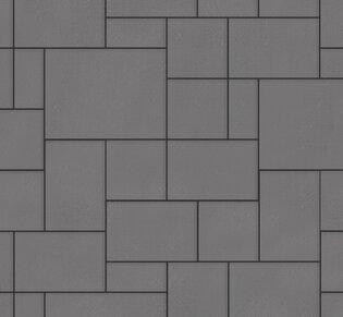 Тротуарная плитка Инсбрук Альпен, 40 мм, серый, гладкая: фото