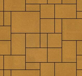 Тротуарная плитка Инсбрук Альпен, 40 мм, желтый, гладкая: фото