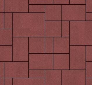 Тротуарная плитка Инсбрук Альпен, 40 мм, красный, гладкая: фото