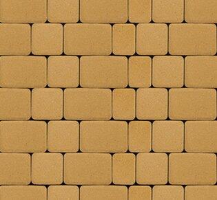 Тротуарная плитка Инсбрук Альт, 40 мм, жёлтый, гладкая: фото