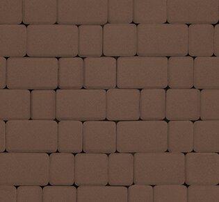Тротуарная плитка Инсбрук Альт, 40 мм, коричневый, гладкая: фото
