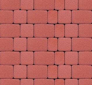 Тротуарная плитка Инсбрук Альт, 40 мм, красный, гладкая: фото