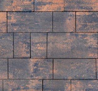 Тротуарная плитка Инсбрук Тироль, 60 мм, ColorMix Айвори, гладкая: фото