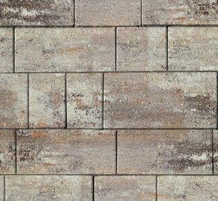 Тротуарная плитка Инсбрук Тироль, 60 мм, ColorMix Берилл, гладкая: фото