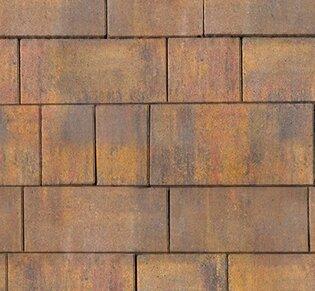Тротуарная плитка Инсбрук Тироль, 60 мм, ColorMix Бромо, гладкая: фото