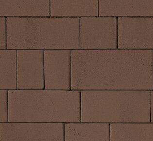 Тротуарная плитка Инсбрук Тироль, 60 мм, коричневый, гладкая: фото