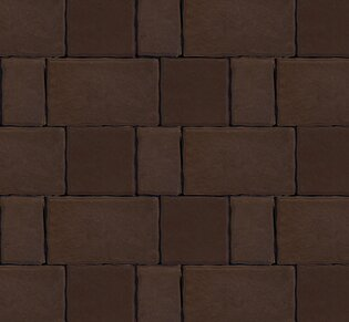 Тротуарная плитка Старый город, 60 мм, коричневый, гладкая: фото